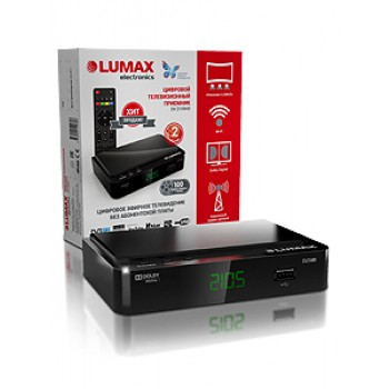 Цифровая ТВ приставка LUMAX DV2105HD, DVB-T2, Wi-Fi