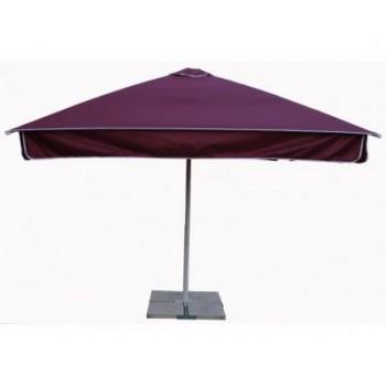 Зонт уличный с воланом Митек 2,5х2,5 м стальной каркас, с подставкой,стойка 50мм. (изготовление под заказ 3 недели)