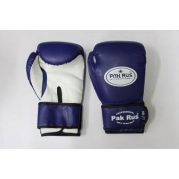 Перчатки боксерские Pak Rus , иск.кожа , 12 OZ , синие, PR-128881