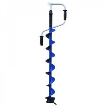 Ледобур Тонар Indigo-120(R)-1600 двуручный, телескопический, правый, полукруглые ножи