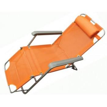 Кресло-шезлонг WoodLand Lounger Textilene оранжевое CК-056А 0036509