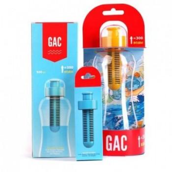 Бутылка c фильтром с картриджем GAC для очистки воды (0,5 л) + запасной картридж