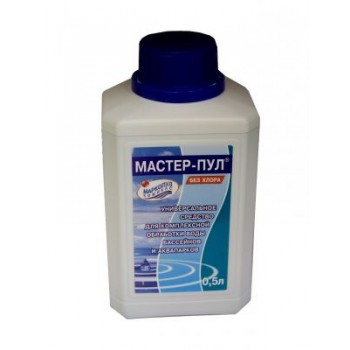 Средство для бассейна Маркопул Мастер-Пул 4 в 1 (жидкость) 0,5 л.