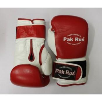 Перчатки боксерские Pak Rus ,кожа, 12 OZ (PR-12492)