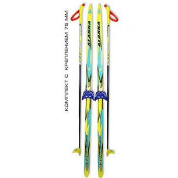 Беговые лыжи STC (лыжи, крепления 75мм, палки) 200 см