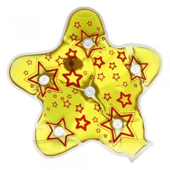 Грелка солевая Звезда желто-красная